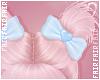 F. Doll Bun Bows Blue