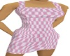 pink check dress