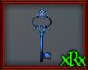 Fancy Key Decor Blue