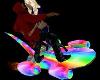 Rainbow flyingskateboard