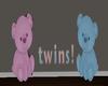 3D Bear Twins Sign
