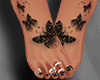 Butterfly feet