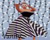 Bk/Wh Bow Striped Dress