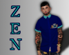 ZEN Button Down Blue