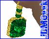 -JDM-GoldEmerald Earring
