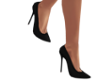 Black Spike Heel Shoes