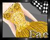 Golden Cascade Dress