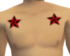 Stars red/black