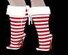 Santa Candycane Boots