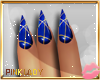 <P>Nails I Blue&Gold