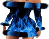 black blue fire fur dres