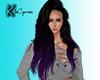 {K} Lindsay Purple/Black