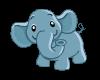 Animated Blue Elephant