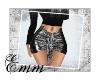!E! Black Glitter Skirt