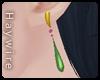 :Hauru drop earrings