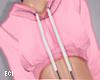 E. Pink Crop Hoodie