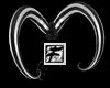 ~F~BW stripe Hair Horns
