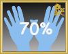 70% Scaler Hands
