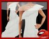 *S* White Ruffles Dress