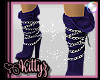 ! Chained Boot Purple