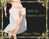Add on skirt white