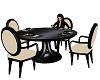 B&W table/chair set