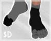 $D - Toe Socks Blk*Gray