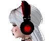 Red heart Headphones