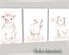 H. Canvas Triple Pigs WN