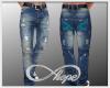 Jeans Denim & Turquoise