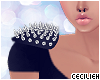 ! spiked shoulderpads