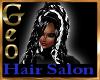 Geo Violet hair black