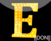 E YELLOW Letters Lamp