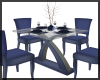 Small Blue Dining Table