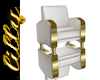 White leather chair R