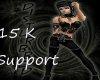 15 K Support Sticker