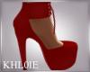 K Mel red Heels