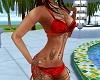 C72 Boho Bikini Red