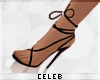 !© Tie Up Heels Black