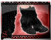 *S Furry Boots Black