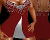 Anna Red Silver Dress