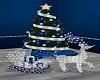 Blue Christmas Sleigh