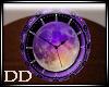 RL Time Purple Moon Clok
