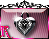*R* Heart Locket Sticker