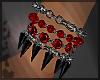 Black Red Spike Brac L