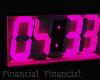 Digital Pink Clock