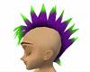 Mohawk Purple, Green Tips