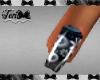 Blk Silver Paisley Nails