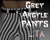 Grey Argyle Pants