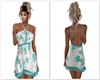 Summerdress Teal Roses
